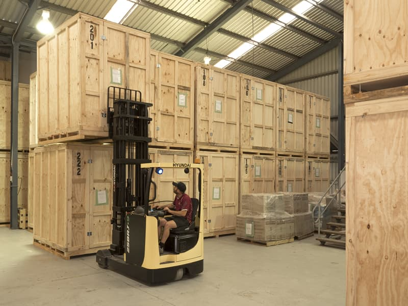 Modular Storage Containers in Secure Warehouse